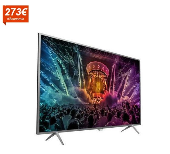 philips 55pus6401 smart tv led ambilight uhd 4k 139cm pas cher t l viseur 4k cdiscount soldes. Black Bedroom Furniture Sets. Home Design Ideas