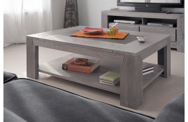 Table basse design ch ne gris willow table basse pas - Mobilier design pas cher ...