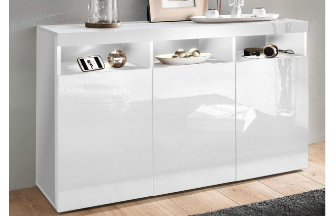 buffet design laqu blanc casey buffet miliboo ventes pas. Black Bedroom Furniture Sets. Home Design Ideas