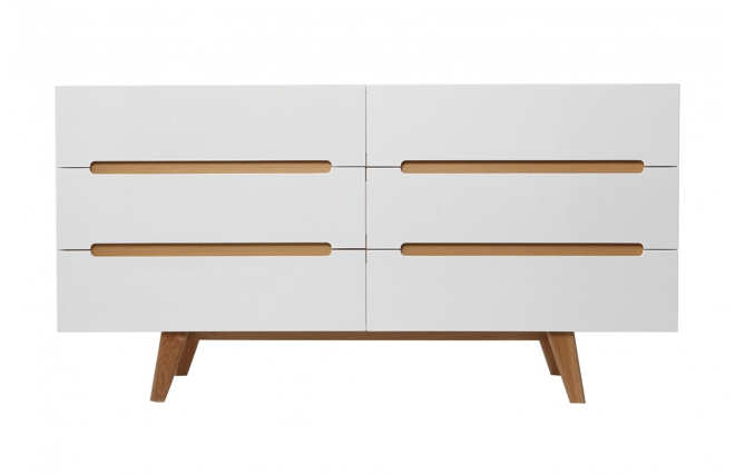 Commode scandinave melka blanc brillant commode miliboo - Meuble commode pas cher ...