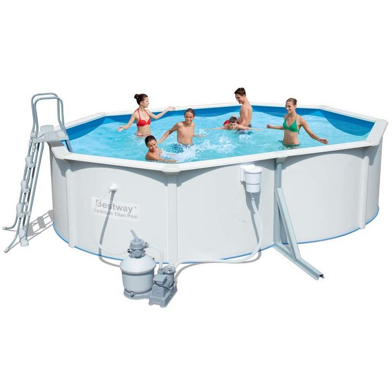 Piscine acier ovale hydrium pas cher soldes piscine - Piscine hors sol acier pas cher ...