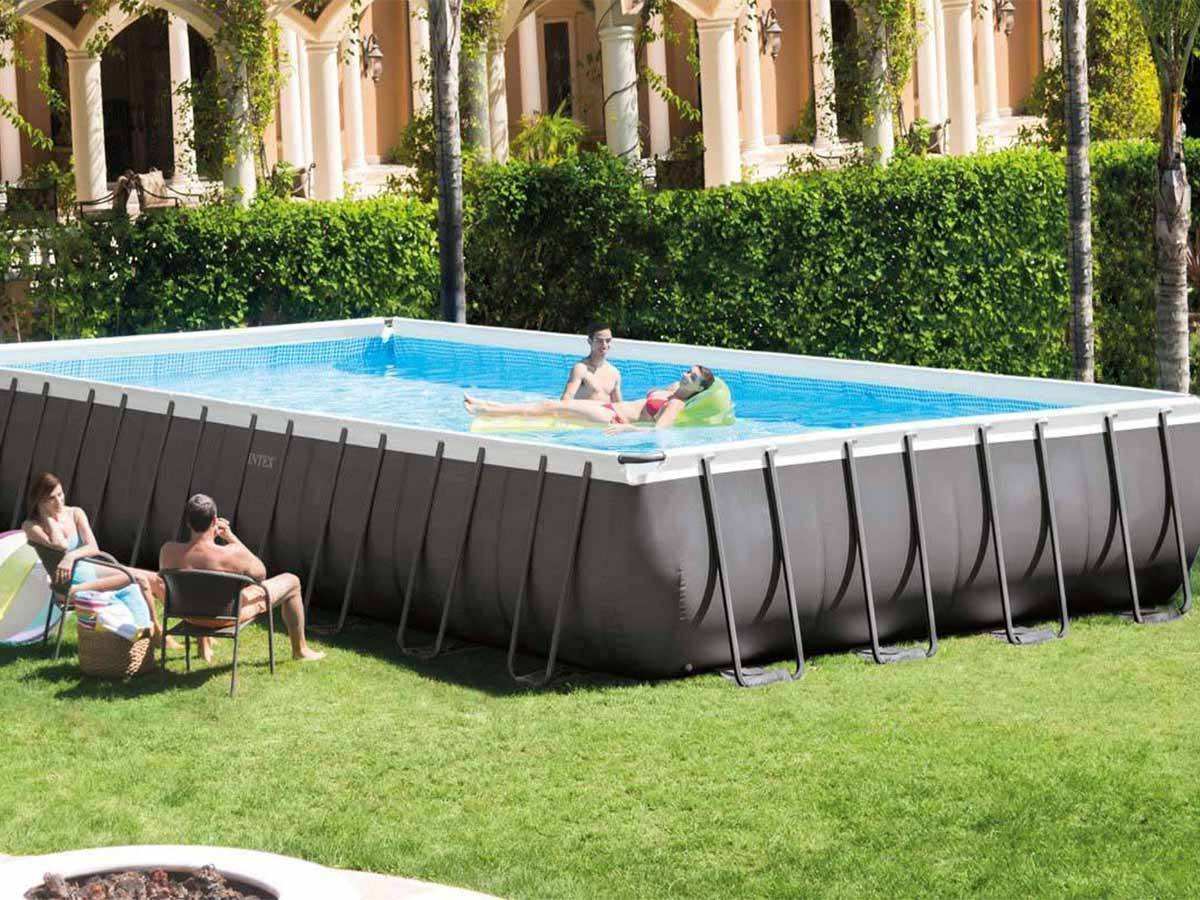 Piscine Tubulaire Ultra Silver Rectangulaire Intex 9,75 X 4,88 X 1,