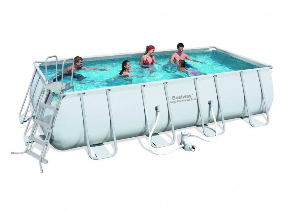piscine tubulaire rectangulaire reunion l549 x l274 x h122 cm vente unique ventes pas. Black Bedroom Furniture Sets. Home Design Ideas