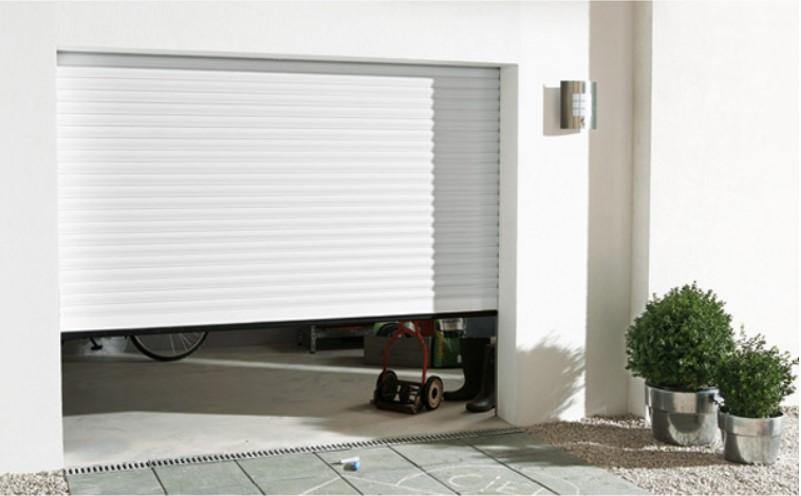 Porte de garage enroulable aluminium Kiev 1 blanc - Castorama