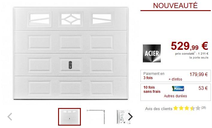Porte de garage sectionnelle à cassette ASLAN avec fenêtres