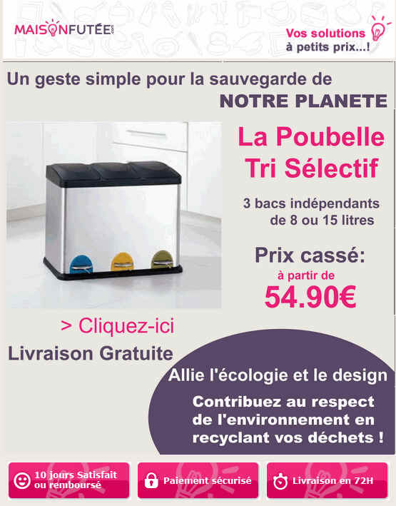 poubelle tri selectif prix cass eur avec maison fut e ventes pas. Black Bedroom Furniture Sets. Home Design Ideas