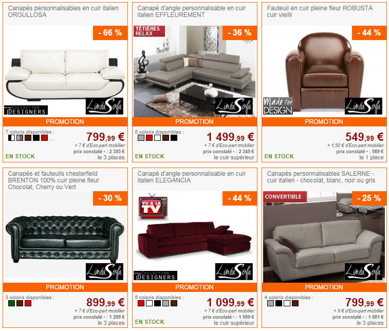 canap s haut de gamme linea sofa pas cher sur vente unique ventes pas. Black Bedroom Furniture Sets. Home Design Ideas