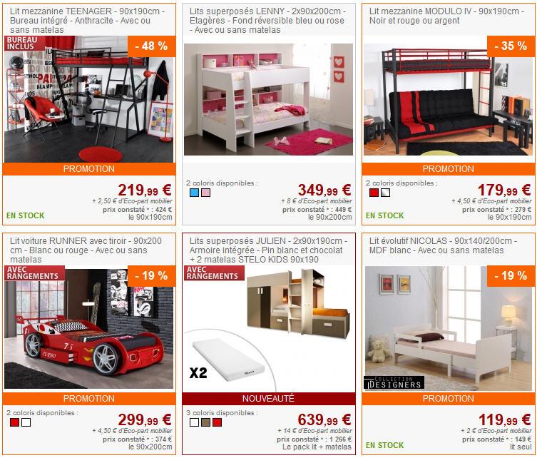 Vente unique top promo vente unique meubles et deco pas cher ventes pas c - Vente unique com lit ...