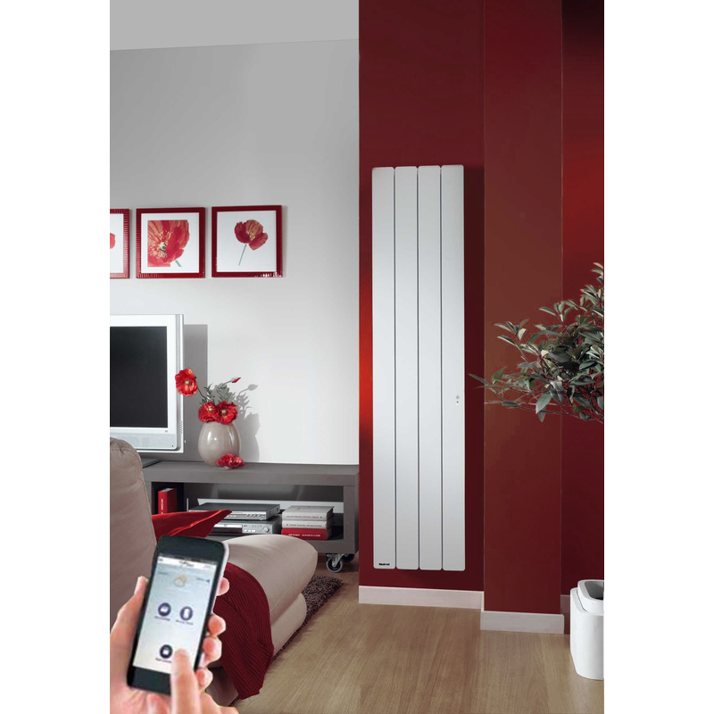 radiateur inertie fonte noirot bellagio smart ecocontrol vertical 1000 w pas cher radiateur. Black Bedroom Furniture Sets. Home Design Ideas