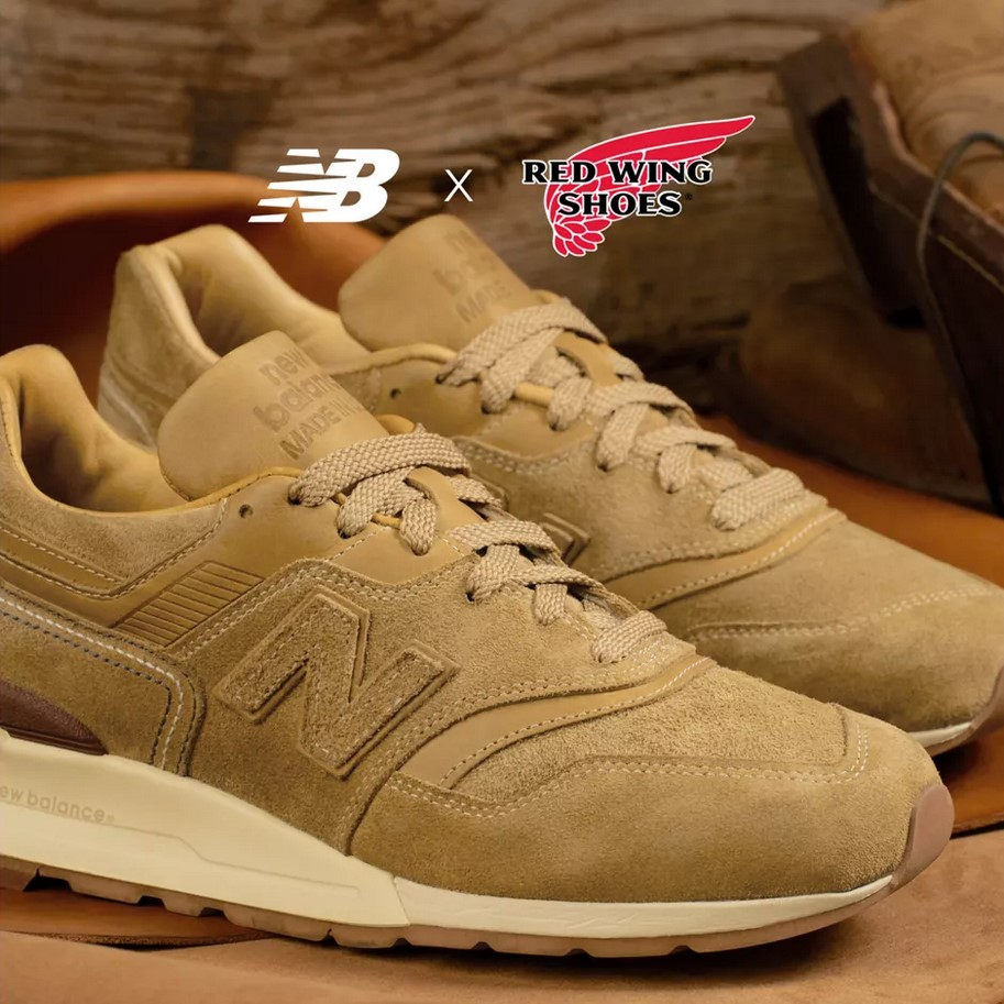Red Wing x New Balance Made in US 997 pour Homme