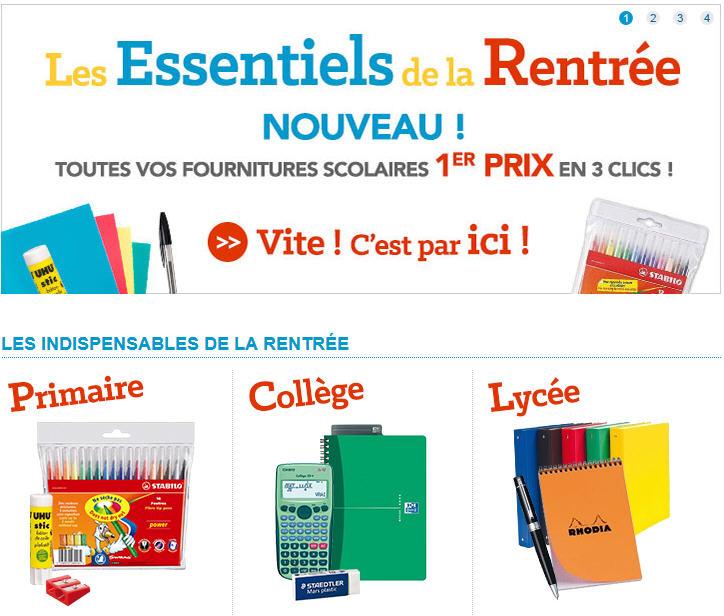 Rentr e scolaire pas cher sur rue du commerce ventes pas - Rue du commerce literie ...