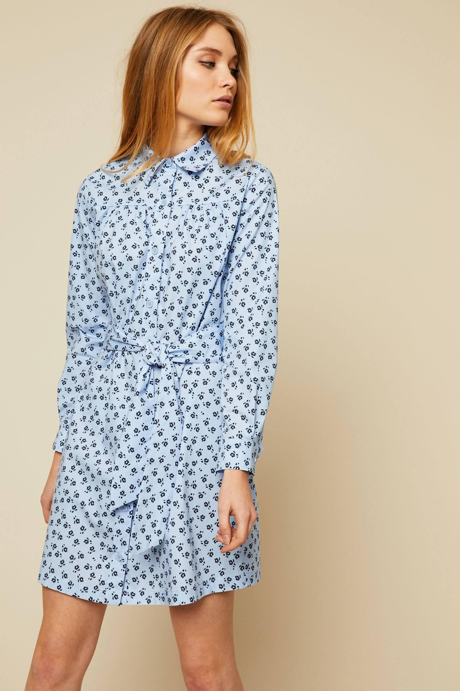 MAX&Co. Dedurre Robe ceinturée imprimé floral bleu