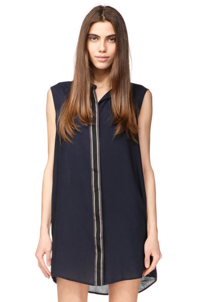 robe chemise fluide sans manche deka marine diesel robe disel monshowroom ventes pas. Black Bedroom Furniture Sets. Home Design Ideas