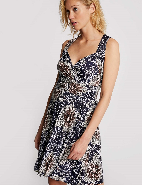 Robe courte évasée imprimé floral Morgan