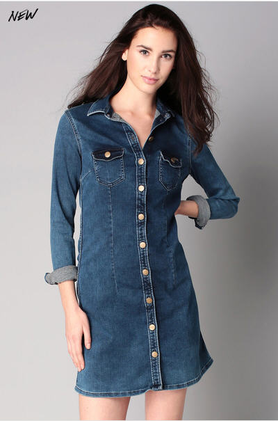 Robe denim Cindy Bleu Pepe Jeans