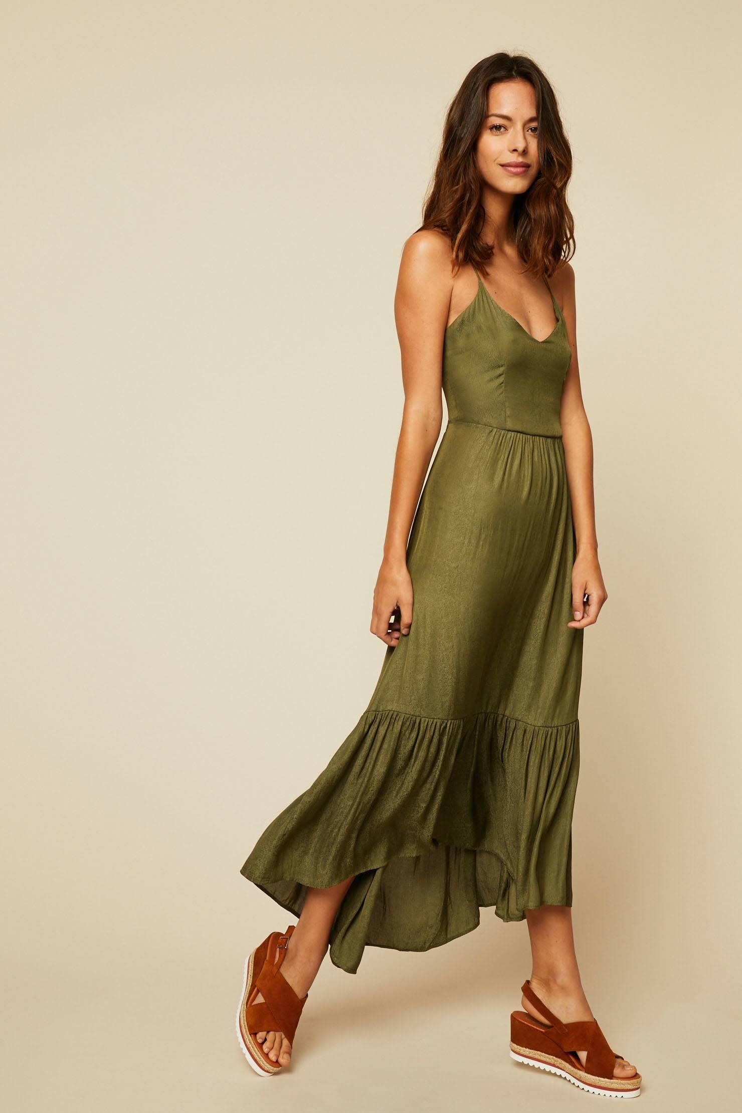 Vero Moda Faline Robe longue imprimé reptile vert