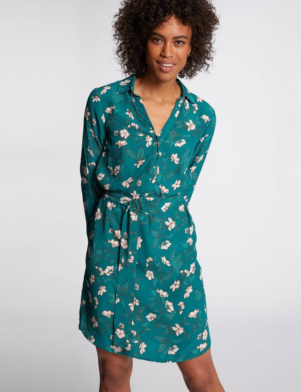 Robe portefeuille motifs fleuris Morgan