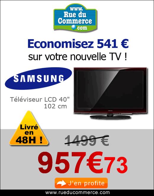 rueducommerce economisez 541 euros sur votre nouvelle tv ventes pas. Black Bedroom Furniture Sets. Home Design Ideas