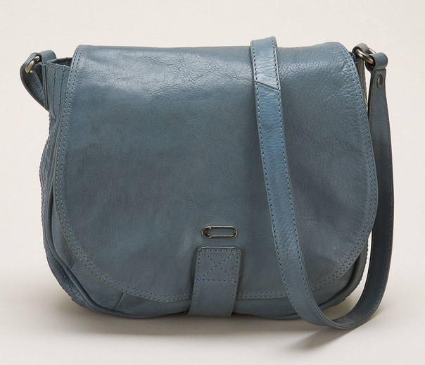 Ikks women Waiter Sac bandoulière en cuir bleu - Monshowroom