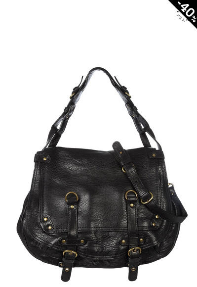 Soldes Sacs Monshowroom, Sac JAMILY Abaco en cuir bubble Made in France Noir