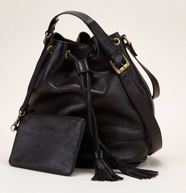 Sessun Lasuo Sac seau en cuir noir - Monshowroom