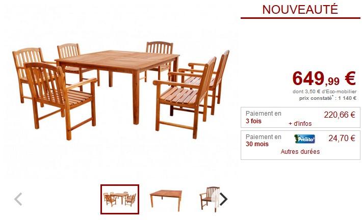 salle manger de jardin makati avec structure en acacia salle manger de jardin vente unique. Black Bedroom Furniture Sets. Home Design Ideas