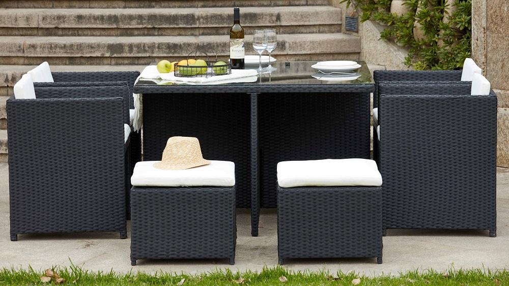 Salon de jardin 8 places BIARRITZ encastrable - ManoMano