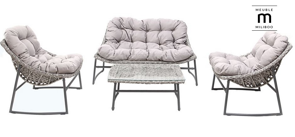 Salon de jardin design gris COMFY