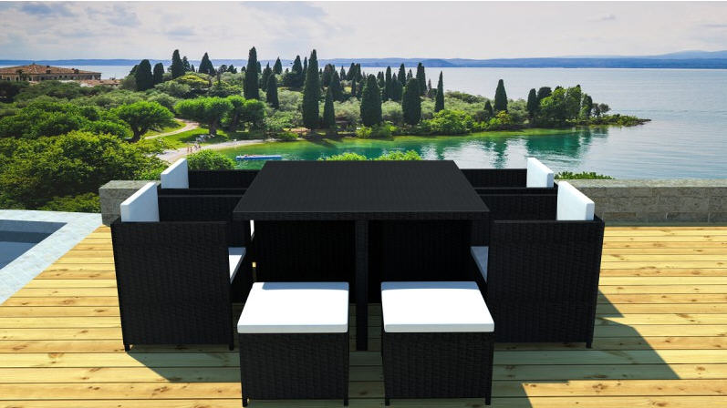 salon de jardin design yolanda atylia en r sine tress e. Black Bedroom Furniture Sets. Home Design Ideas