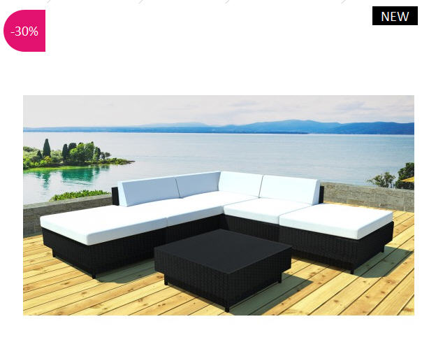 salon de jardin design spinza en r sine tress e atylia. Black Bedroom Furniture Sets. Home Design Ideas