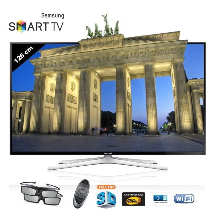 tv led 3d cdiscount samsung ue 50h6400 led tv 3d smart. Black Bedroom Furniture Sets. Home Design Ideas