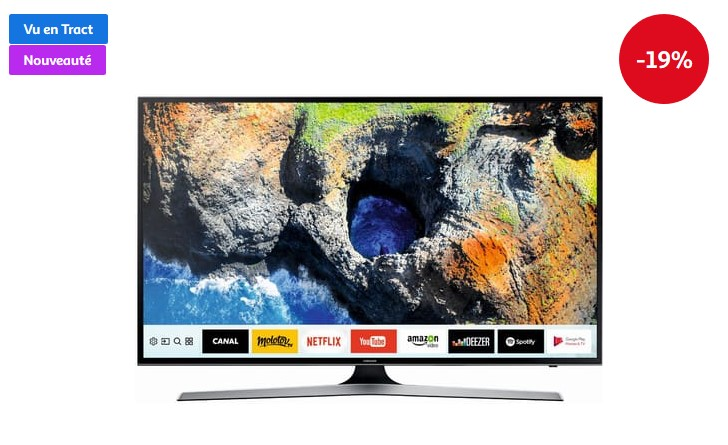 samsung ue50mu6125 tv led uhd 125 cm pas cher t l viseur 4k auchan ventes pas. Black Bedroom Furniture Sets. Home Design Ideas