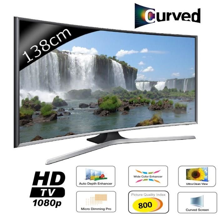 televiseur led samsung ue55j6300 pas cher tv incurv e grosbill ventes pas. Black Bedroom Furniture Sets. Home Design Ideas
