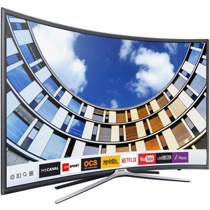 samsung ue55m6350a tv led full hd 138 cm pas cher t l viseur incurv cdiscount soldes. Black Bedroom Furniture Sets. Home Design Ideas