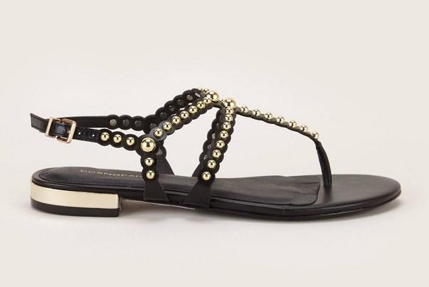 Cosmoparis Foli Sandales en cuir noir