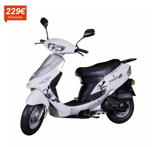 scooter 50cc beat box gris cy50t 6 pas cher scooter. Black Bedroom Furniture Sets. Home Design Ideas