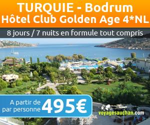 turquie voyages auchan s jours bodrum hotel club golden age 4 prix 495 00 euros ventes pas. Black Bedroom Furniture Sets. Home Design Ideas
