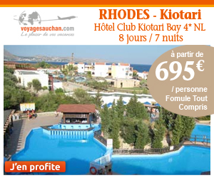 s jours rhodes voyages auchan hotel kiotari 4 nl prix 695 00 euros ventes pas. Black Bedroom Furniture Sets. Home Design Ideas