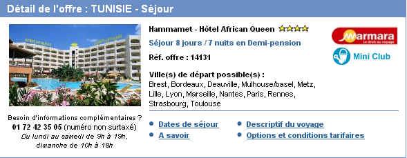 tunisie pas cher avec voyages sncf 407 eur 35 de reduction ventes pas. Black Bedroom Furniture Sets. Home Design Ideas