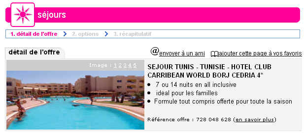 lastminute sejour tunisie hotel club carribean world borj cedria 4 ventes pas. Black Bedroom Furniture Sets. Home Design Ideas