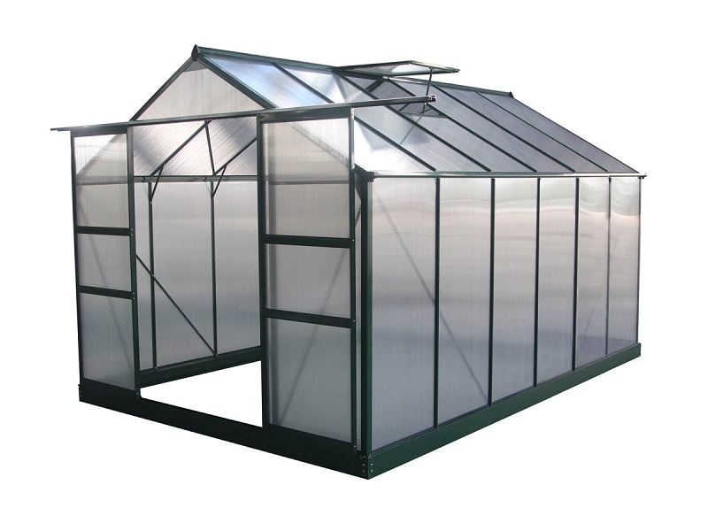 Serre jardin polycarbonate Dahlia Vert Sapin 9,24 m²m - ManoMano