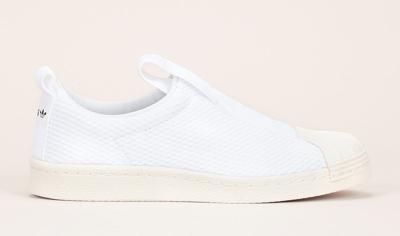 Adidas Originals Superstar Slip-on multi-matières blanc - Monshowroom