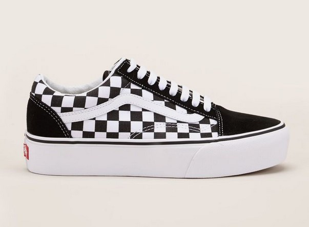 vans old skool sneakers plateforme damier noir blanc baskets femme monshowroom ventes. Black Bedroom Furniture Sets. Home Design Ideas