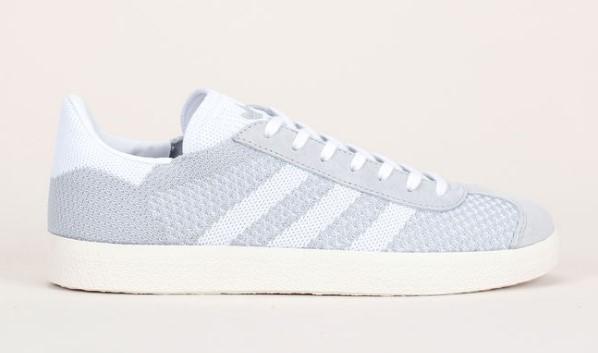 Adidas Originals Sneakers Gazelle bi-matière gris/blanc détail en cuir nubuck