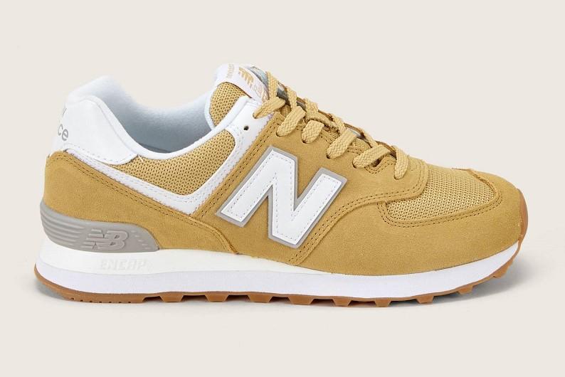 New Balance Sneakers bi-matières WL574EST jaune - Monshowroom