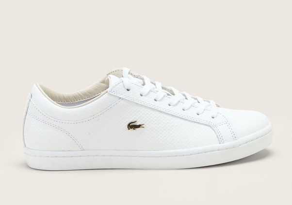 Lacoste Footwear Sneakers blanches en cuir texturé - Baskets Femme Monshowroom