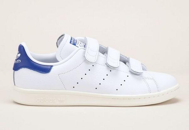 Adidas Originals Sneakers blanches Stan Smith en cuir - Baskets Femme Monshowroom