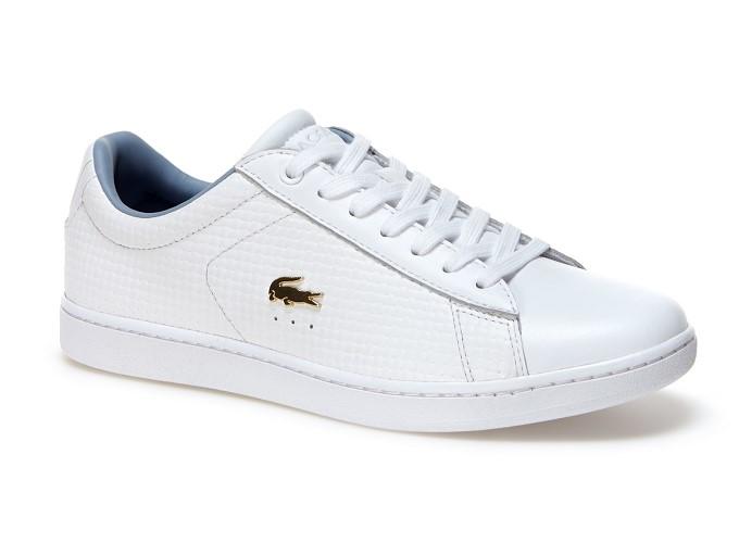 Sneakers Carnaby Evo Lacoste en cuir tressé