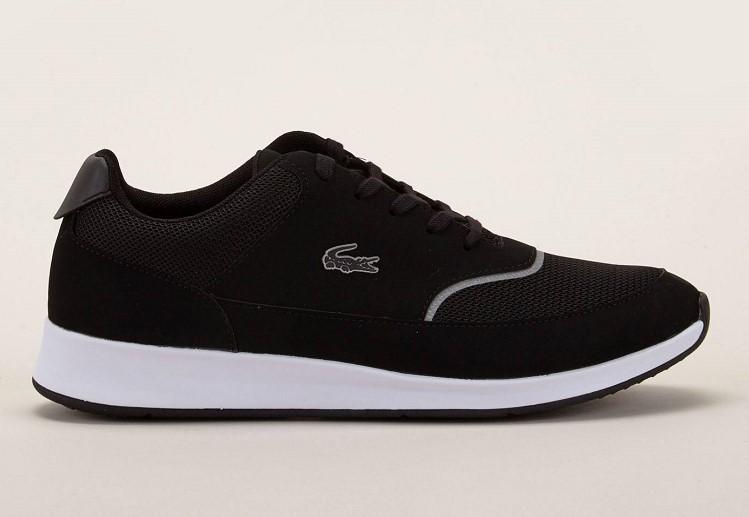 Lacoste Footwear Sneakers Chaumont Lace textile et croûte de cuir noir - Baskets Femme Monshowroom