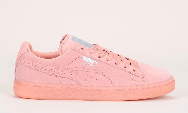 Puma Sneakers cuir suède rose saumon